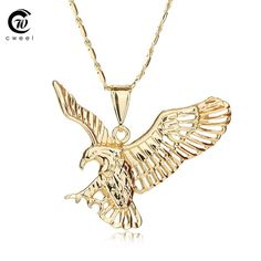 Eagle Necklace Jesus Animal Pendant Christian Vintage Jewelry For Women Men