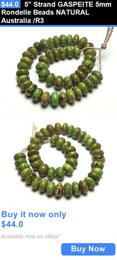 Women Jewelry: 5 Strand Gaspeite 5Mm Rondelle Beads Natural Australia /R3 BUY IT NOW ONLY: $44.0
