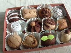 Felt Food - Box of Chocolate Truffles For The One You Love XOXO. $25.00, via Etsy.