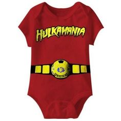 Hulkamania World Red Champ Infant Romper