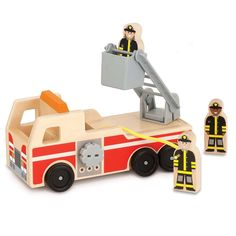 Melissa And Doug Classic Toy Wooden Fire Truck