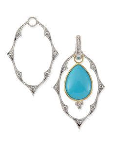 White Gold Moroccan Earring Frames