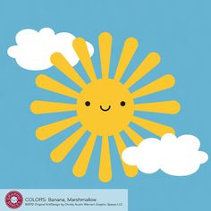 Happy Sun Vinyl Wall Decal for Kids Baby Nursery by graphicspaces