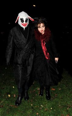 Tim Burton and Helena Bonham Carter going to a Halloween party in London, October 2012