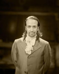 Hamilton: Lin-Manuel Miranda as Alexander Hamilton. Photograph by Josh Lehrer on a camera lens from the mid 1800s.