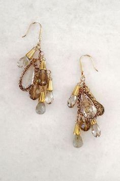 14K Simone Chandelier Earrings on Emma Stine Limited