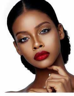 40 Nice Make-up Concepts For Ladies Black Pores and skin - Makeup - Beauty - Nail - Fashion - Hairstyles Black Bridal Makeup, Black Girl Makeup, Girls Makeup, Dark Skin Makeup, Natural Makeup, Makeup Eyebrows, Face Makeup, Maquillage Black, Curly Hair Styles