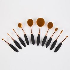 Creative 10 Pcs Multifunction ToothBrush Shape Nylon Face Eye Lip Makeup Brushes Set