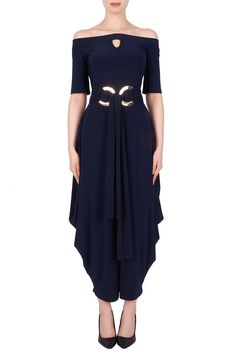 d9d8e8a92077 This Navy Jumpsuit by Joseph Ribkoff 191015 is a uniquely elegant piece  that is sure to