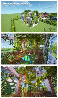 Minecraft Greenhouse, Minecraft Garden, Minecraft Farm, Minecraft Cottage, Cute Minecraft Houses, Minecraft Plans, Minecraft House Designs, Minecraft Survival, Minecraft Construction