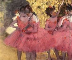 Dancers In Pink  Edgar Degas