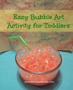 bubble art for toddler