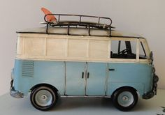 Vintage toy surfer van. Definitely reminds me of growing up in North San Diego county in the 60's.