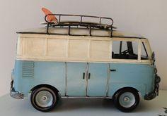Vintage metal surfer van; so great!