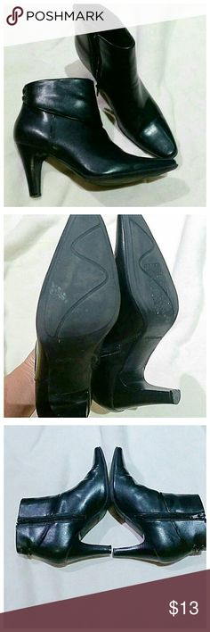 Croft & barrow black heeled ankle boots In excellent condition.  Zippers on the inside. croft & barrow Shoes Ankle Boots & Booties