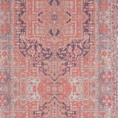 Kelim tapijt zalmrose behang 218034 uit de collectie Essentials 2016 van BN Wallcoverings koop je bij kleurmijninterieur