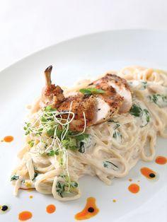 Alfredo Malunggay and Organic Chicken by Chef Sandalyn Hataway.