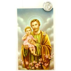 Pewter St. Joseph Lapel Pin with Prayer Card. by McVan. $20.00. Pin