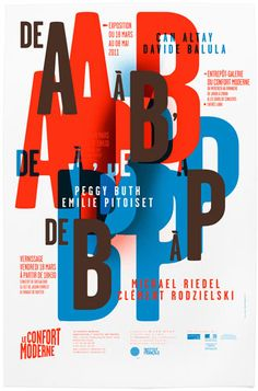 de A à B, de B à P / Affiche pour le Confort Moderne (Poitiers) / http://www.wa75.com/
