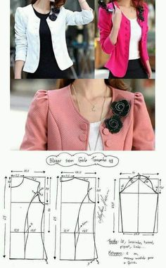 Blazer Sewing Pattern Casual Pattern Inspiration For The Non Girly Sewist Allspice Abounds Coat Patterns, Dress Sewing Patterns, Clothing Patterns, Blazer Pattern, Jacket Pattern, Fashion Sewing, Diy Fashion, Womens Fashion, Costura Fashion