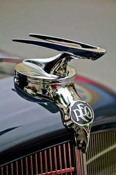 Car Images by Jill Reger - 1935 Reo Speedwagon Pickup Hood Ornament..Re-pin brought to you by agents of #Carinsurance at #HouseofInsurance in Eugene, Oregon