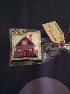Crossstitch keychain, littlehome😊🎁