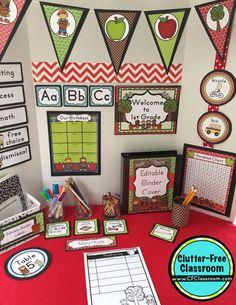 Apple Themed Classroom - Ideas & Printable Classroom Decorations