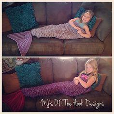 Mermaid Tail Blanket - MJ's Off the Hook Designs crochet pattern on Ravelry