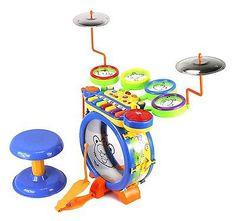 Kids Musical Toy Drum N Keyboard Play Set, Key Piano, Drums, Cymbals, DJ Mixer