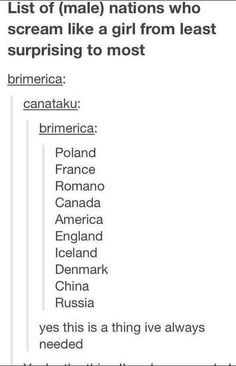 Russia: of course (China I can see) XD