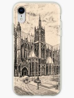 'X century Cathedral in Metz, France' iPhone Case by WearGraphics Metz France, Phone Covers, Cathedral Architecture, Medieval Gothic, Germany, Iphone Cases, Gothic Metal, Ink, History