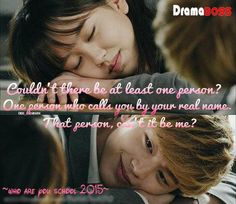 OMG ☺ I Love This Couple So Much <3 <3 I just hope I am not falling into the second lead syndrome  because at this point we don't know how it will end up..  but i hope they can be together at the end ☺ <3 <3 #WhoAreYouSchool2015