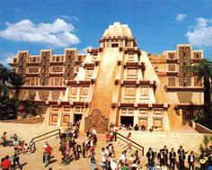EPCOT Center Mexico Pavilion. The pyramid structure that houses Mexico was inspired by the Meso-American architecture, dating from the third century, A.D.