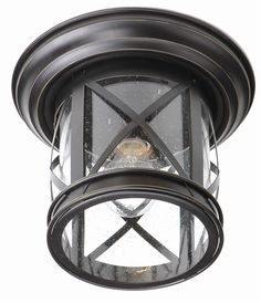 "Trans Globe Lighting 5128 New England Coastal 11"" Outdoor Flush Mount Ceiling Light"