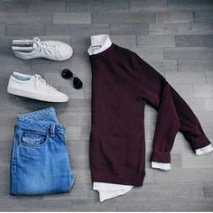 Follow @theshoegrid for daily style  #suitgrid to be featured  ____________________ #SuitGrid by @dimitris_kolonas ____________________  Tap For Brands #inisikpe Sweater/Shirt: @riverisland Denim: @diesel Shoes: @jackandjones Glasses: @rayban