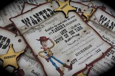 Toy Story WANTED Woody Invitations by kutekardz on Etsy, $6.75