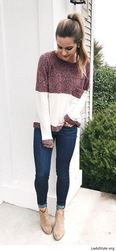 Nice sweater, boots and jeans - LadyStyle