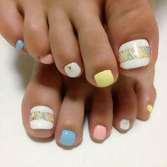 Más de 40 fotos de uñas decoradas para Pies – Foot nails   Decoración de Uñas - Manicura y Nail Art - Part 4