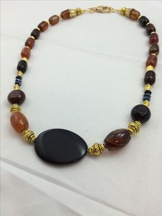 This a necklace made from beautiful agate by me.