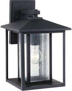 0-023106>Hunnington 1-Light Outdoor Wall Lantern Black