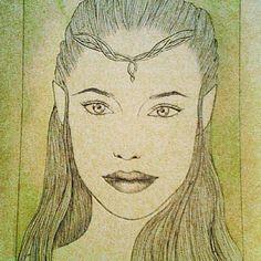 #art #drawing #pen #sketch #lineheart #arwenundomiel #elf  #lotr #lordoftherings #tolkien