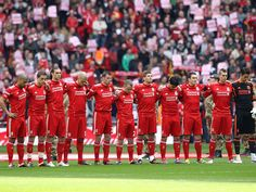 On the day before the 23rd anniversary of the Hillsborough disaster, a minute's silence is observed to remember the 96 fans who lost their lives.