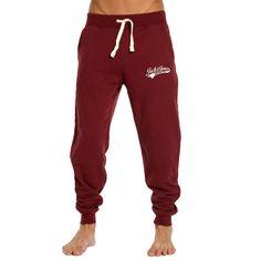 Jack Jones Vintage Access Sweat Joggers ($53) ❤ liked on Polyvore featuring activewear, activewear pants, pants, bottoms, pants - leggings, sweatpants, red sweatpants, jogger sweatpants, sweat pants and red jogger sweatpants