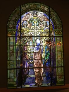 Tiffany Stained Glass Window: The Righteous Shall Receive a Crown of Glory. Clara and Mr Tiffany: The Backstory – FanningSparks Stained Glass Church, Stained Glass Angel, Tiffany Stained Glass, Tiffany Glass, Stained Glass Windows, Broken Glass Art, Sea Glass Art, Mosaic Glass, Corning Museum Of Glass