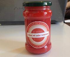 Rezept Erdbeermarmelade mit weißer Schokolade von Nella27 - Rezept der Kategorie Saucen/Dips/Brotaufstriche