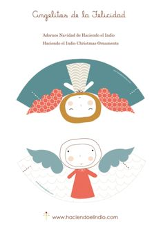 free printable of Christmas ornaments Christmas Mood, Christmas Makes, Christmas Angels, Angel Crafts, Christmas Crafts, Christmas Ornaments, Christmas Decorations, Diy For Kids, Crafts For Kids