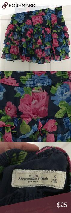 Abercrombie mini skirt Ruffled mini skirt from Abercrombie & Fitch Abercrombie & Fitch Skirts Mini