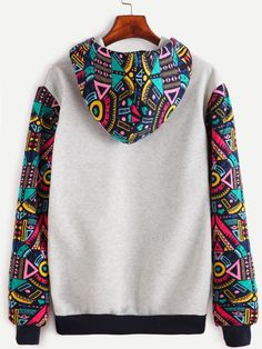 Shop Contrast Sleeve And Hooded Sweatshirt With Kangaroo Pocket online. SheIn offers Contrast Sleeve And Hooded Sweatshirt With Kangaroo Pocket & more to fit your fashionable needs. Tomboy Fashion, Fashion Outfits, Mode Wax, African Shirts For Men, Trendy Hoodies, African Men Fashion, Kawaii Clothes, Character Outfits, Custom Clothes