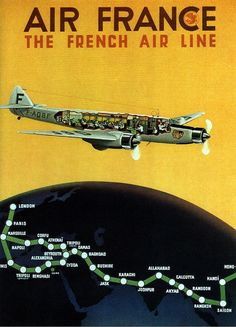 Air France, the French air line. 1936