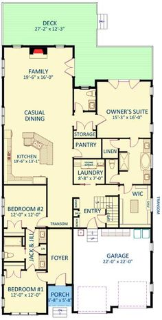 Plan Compact Southern House Plan - Home Decoration Styling Southern House Plans, Southern Homes, Country House Plans, New House Plans, Dream House Plans, House Floor Plans, The Plan, How To Plan, Home Design